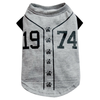 SMALL DOG - Doggy Baseball T Shirt Grey