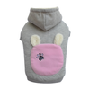 SMALL DOG - Bunny Hood Doggy Sweatshirt Grey