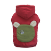SMALL DOG - Bunny Hood Doggy Sweatshirt Red
