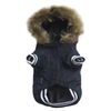 SMALL DOG - Corduroy Doggy Jacket Navy