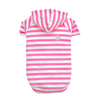 SMALL DOG - Striped Dog Hoody Pink