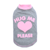 SMALL DOG - Hugs Please Grey Doggy T Shirt