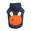 SMALL DOG - Bunny Hood Doggy Sweatshirt Navy