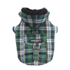 SMALL DOG - Green Plaid Doggy Jacket