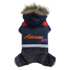 SMALL DOG - Awesome Doggy Snowboarder Onesie Navy