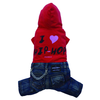SMALL DOG - Hip Hop Red Doggy Jeans
