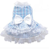 SMALL DOG - Bo-Peep Doggy Dress Blue Check