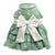 SMALL DOG - Party Doggy Dress Green