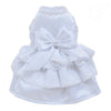 SMALL DOG - Glamorous White Satin Doggy Dress