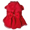 SMALL DOG  - Cherry Red Doggy Dress