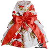 SMALL DOG - Red Rose Doggy Dress