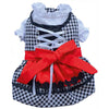 SMALL DOG - Doggy Dirndl Red Bow