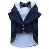 SMALL DOG - Doggy Pin Stripe Tuxedo Jacket