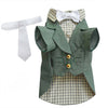 SMALL DOG - Olive Green Doggy Suit Jacket