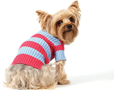 SMALL DOG - Hot Pink Doggy Polo Neck Sweater