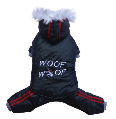Small Dog - Dry Dog Pull Apart Onesie - Black