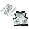 SMALL DOG - Black & White Polka Doggy Harness