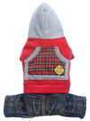 SMALL DOG - Homeboy Red Fleece Doggy Onesie