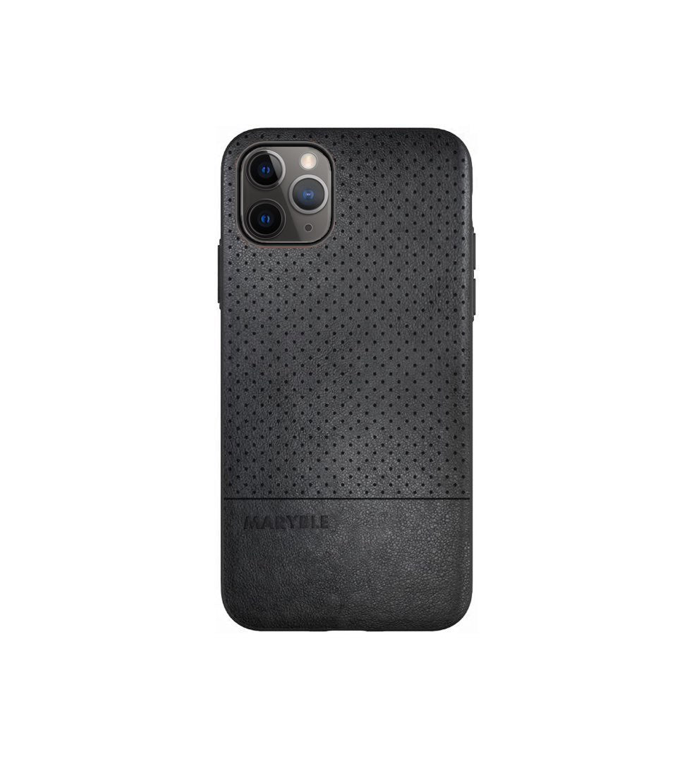 iphone 11 pro case black leather