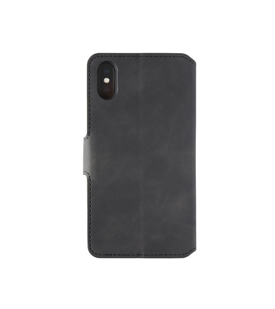 iPhone XS x wallet leather case black