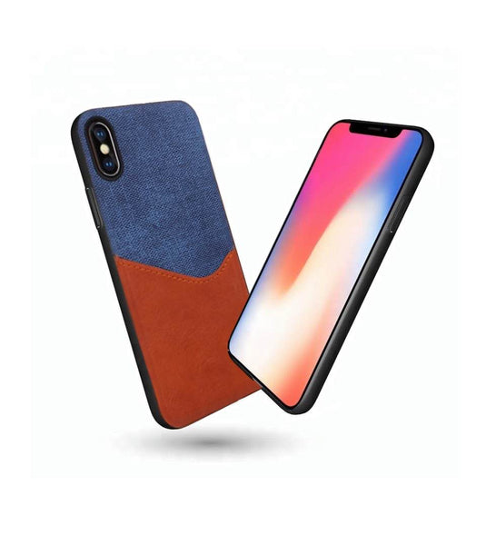 awesome waves design iPhone x leather case