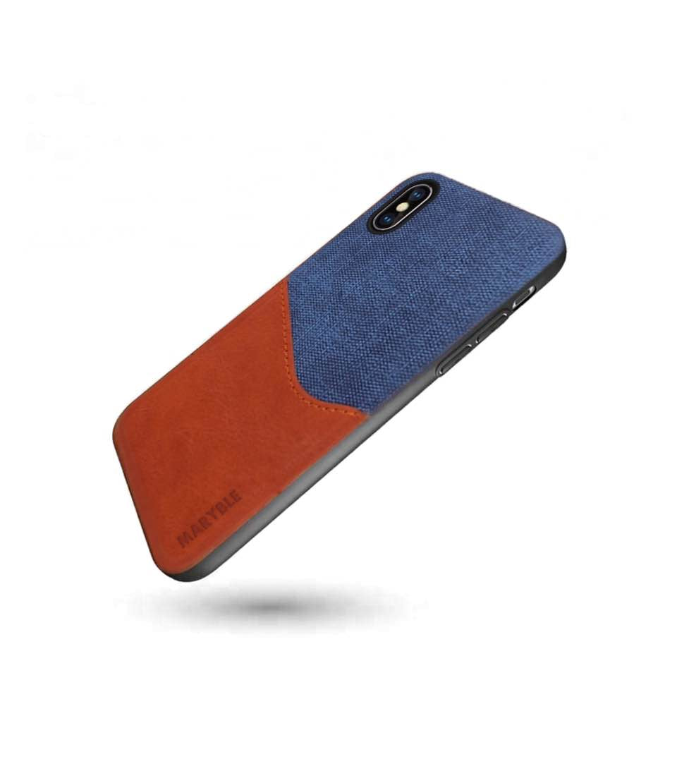 iPhone X / Xs Leather Case - Waves Design