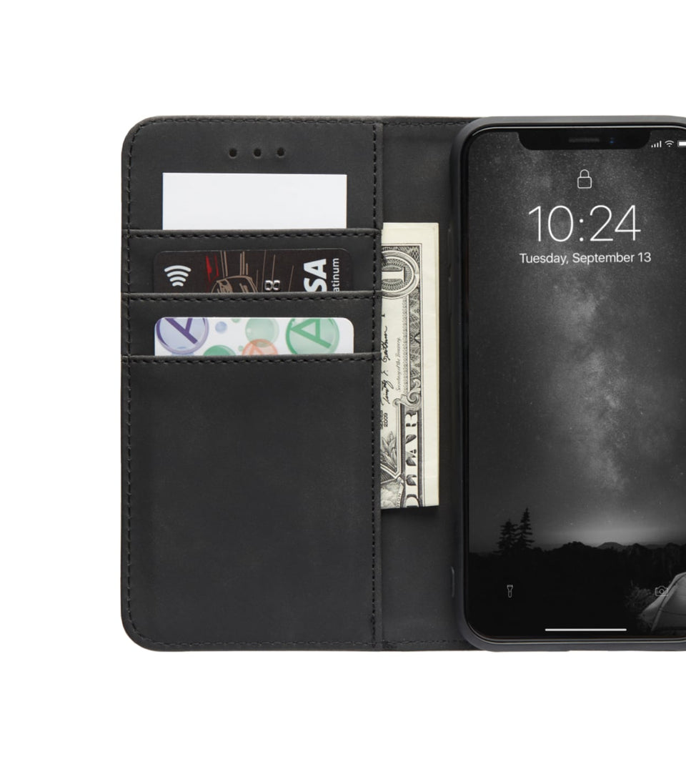 iPhone X XS wallet leather cards case flip