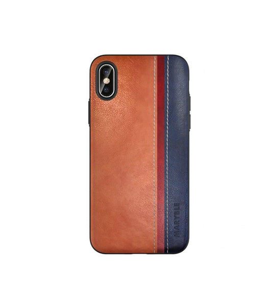 leather case with color stripes for iPhone X