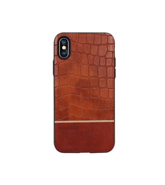 leather case in crocodolie design for iphone x / xs