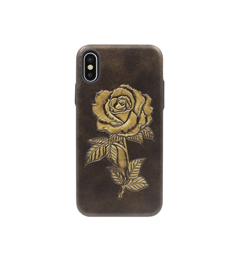 women iphone x case with rose