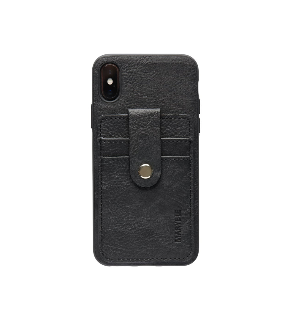 leather card holder case for iPhone XS XS black