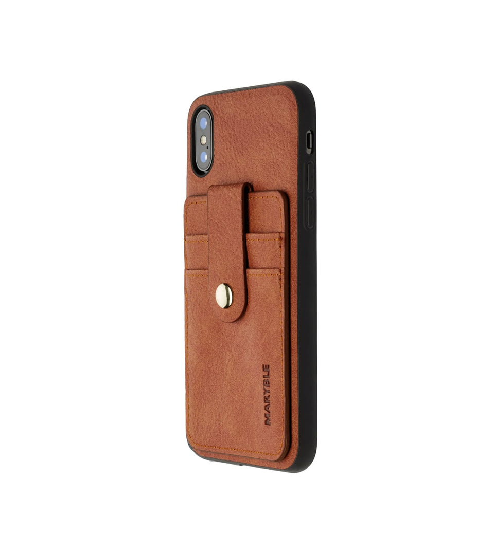 iPhone XS x leather cards case