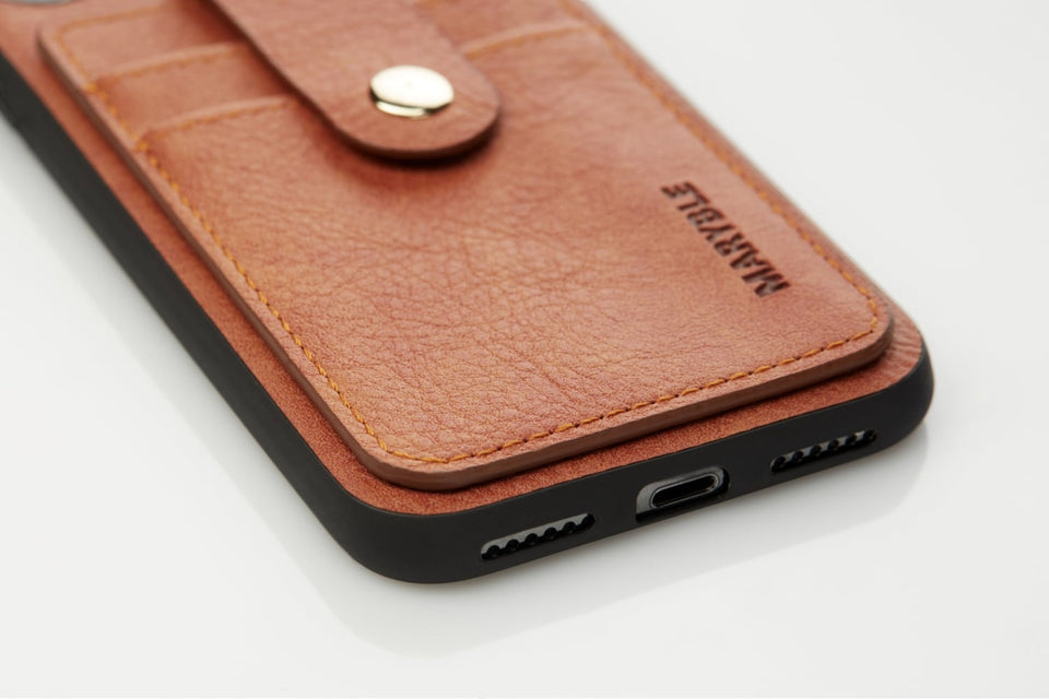 iPhone X XS leather card case
