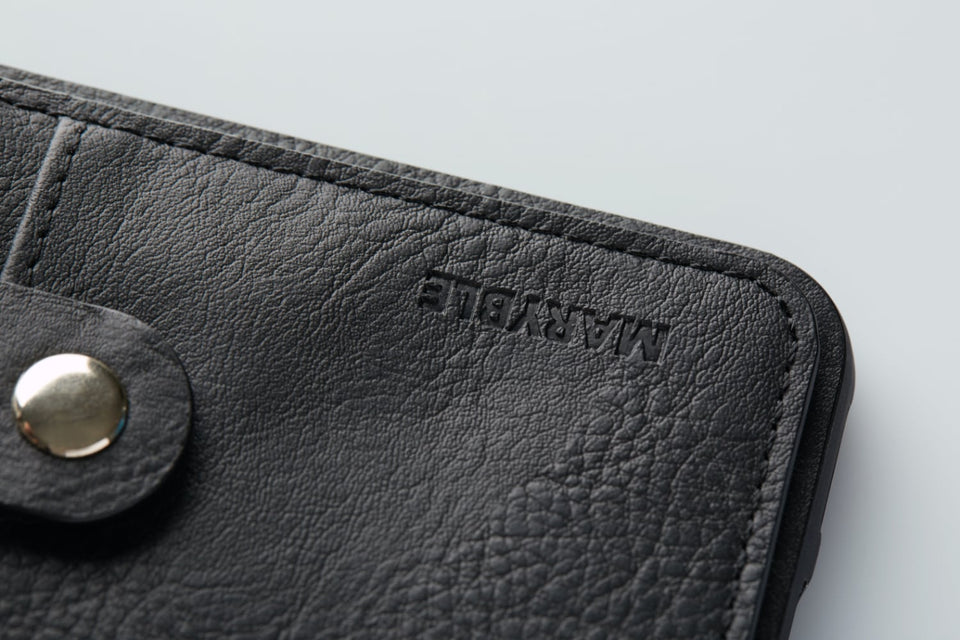 leather card case black for iPhone XS x