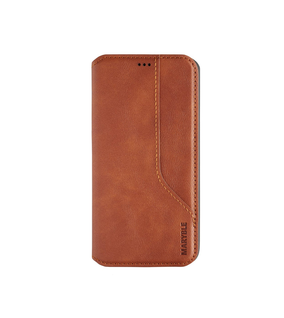 iPhone 11 Pro flip leather case brown