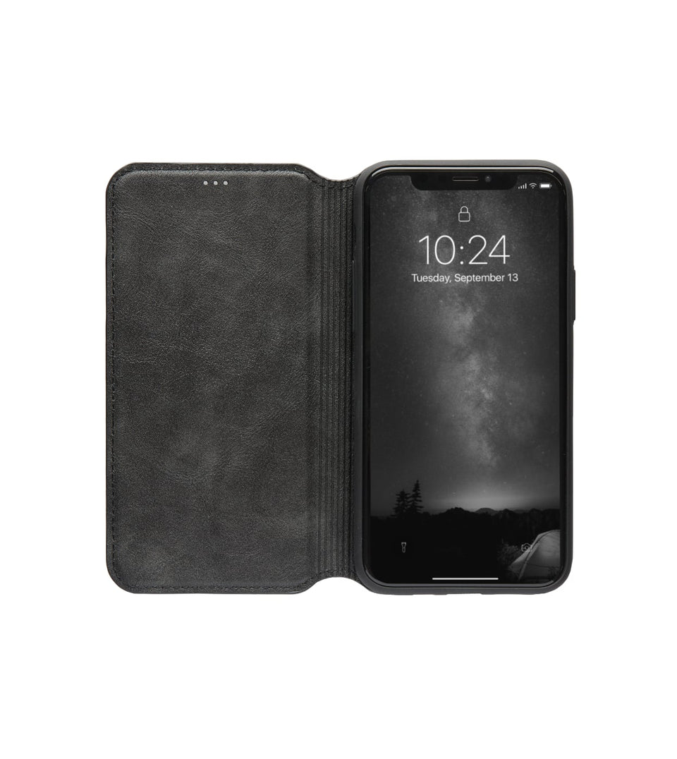 leather case flip with cards for iPhone XS x