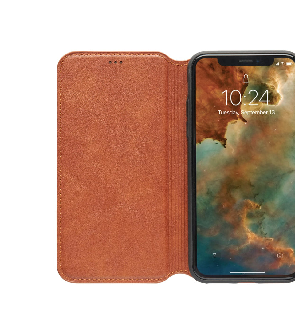 iPhone XS x flip case with card holder