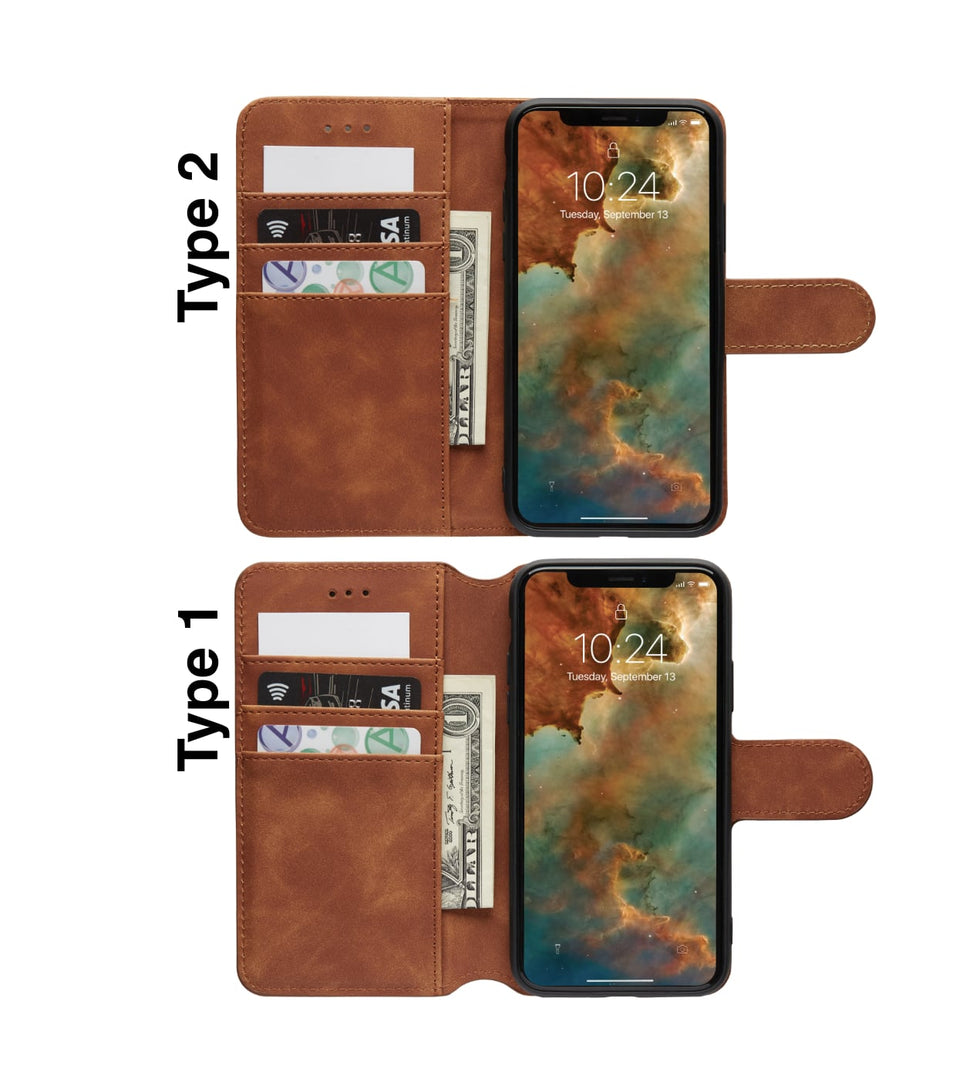 iPhone X vs iPhone XS wallet cases open view