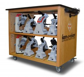 Ken-a-Vision Microscope Charging Cart