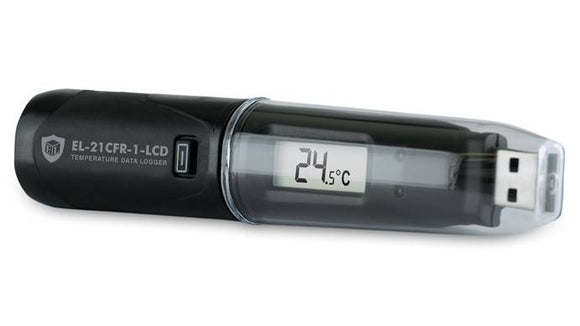 EasyLog 21CFR Temperature Data Logger with Display - EL-21CFR-1-LCD