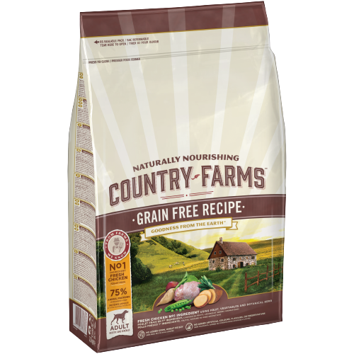 COUNTRY FARMS ™ GRAIN FREE PER CANI ADULTI RICCO IN POLLO