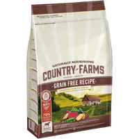 COUNTRY FARMS ™ GRAIN FREE PER CANI ADULTI RICCO IN MANZO