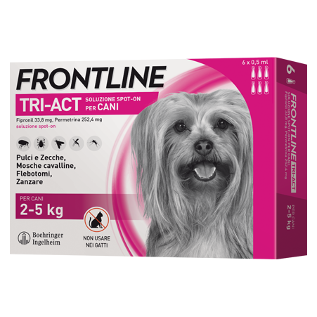 FRONTLINE TRIACT CANI 2-5KG 3 PIPETTE DA 1ML