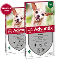 ADVANTIX SPOT-ON PER CANI FINO A 4KG 4 PIPETTE DA 0,4ML