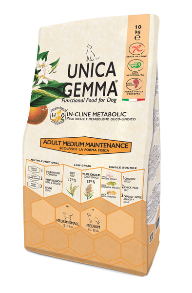 Unica Gemma Adult Medium Pollo,Riso - Maintenance 2kg