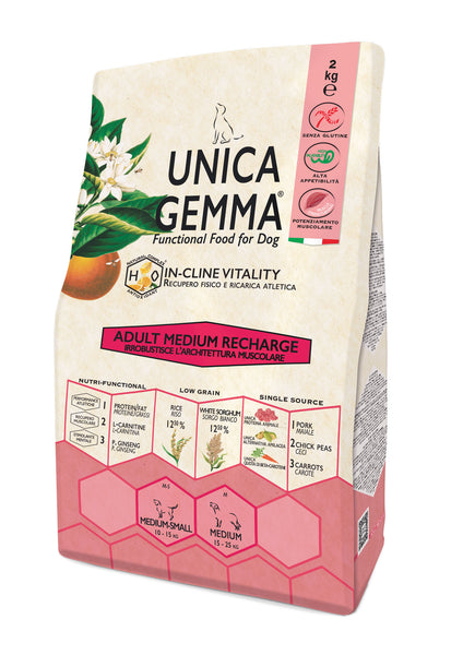 Unica Natura Adult Medium Maiale,Riso - Recharge 2kg