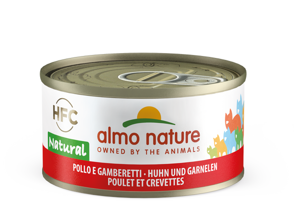 HFC CAT Natural - Pollo e Gamberetti 55gr, 70gr, 140gr, 280gr