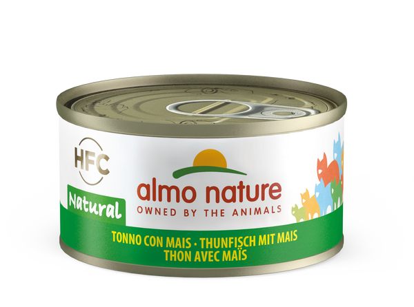 HFC CAT Natural - Tonno con Mais 70gr, 140gr e 280gr