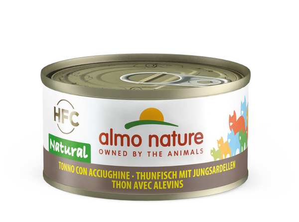 HFC CAT Natural - Tonno con Acciughine 55gr 70gr e 140gr