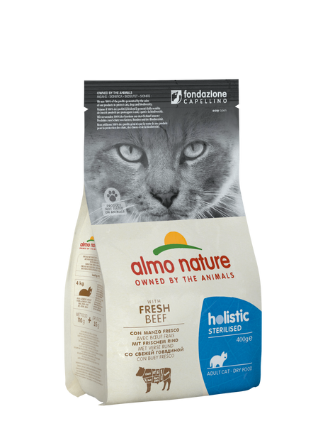 HOLISTIC FUNCTIONAL CAT  Sterilised Manzo 400gr e 2kg
